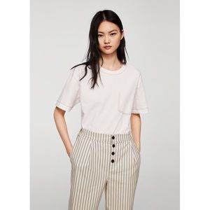 70f9545524 Mango Pants - Mango Straight Striped Trousers